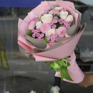 Bó hoa tròn sang chảnh