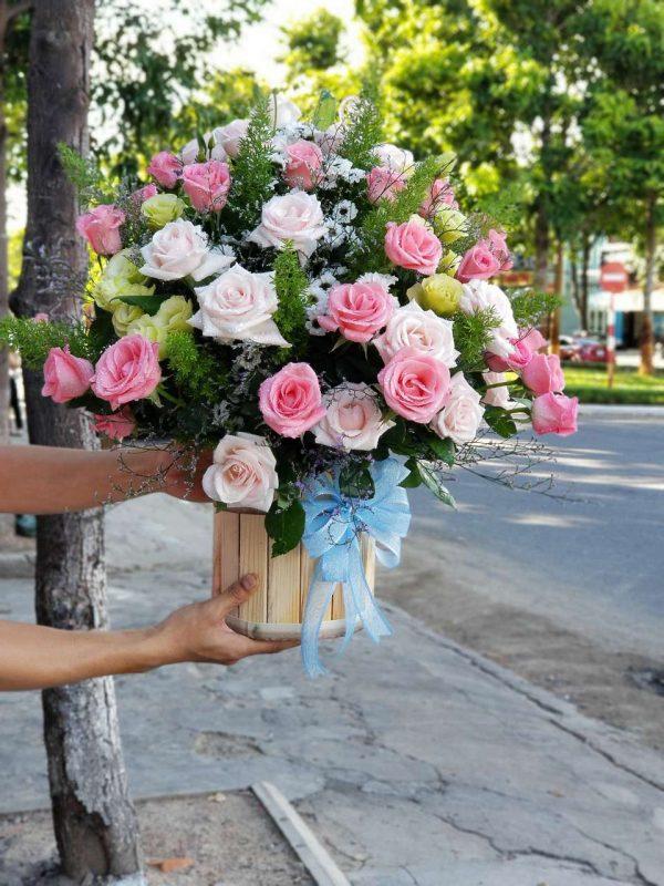 Lẵng hoa giá rẻ