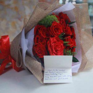 Bó hoa hồng tình yêu