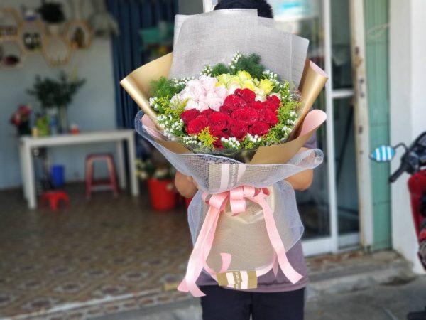 Bó hoa hồng sang chảnh