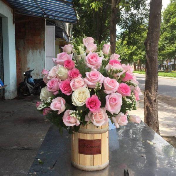 Giỏ hoa tươi giá rẻ